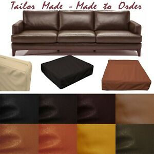 Tailor Made*Cover Only*Faux Leather Skin Box Square Sofa Seat Bench Cushion Pb4