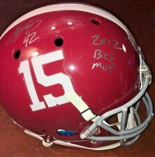 "Eddie Lacy Signed Full Size Alabama Champ Helmet INS ""2012 BCS MVP"" COA w/ Proof"