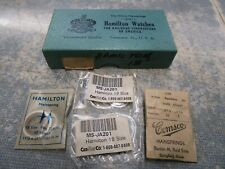 Lot 4 New Hamilton 18s 718013 Pocket Watch Mainsprings Watchmaker Repair Parts
