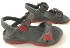 MERRELL ML-B Hydro Drift Boys 10 Sandals Grey Red