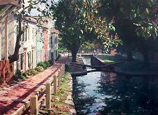 John Stobart Print - Georgetown: Lock No. 4 on the Chesapeake and Ohio Canal