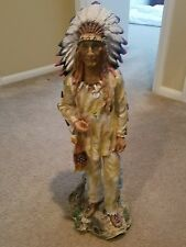 Indian chief satue