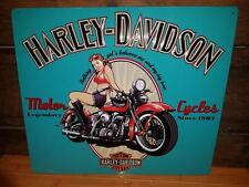 METAL DECOR HARLEY DAVIDSON HD GIRL PLAQUE shop bike motorcycle sexy pinup style