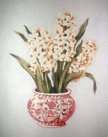 "KWC SB114 Vase with Hyacinths Hand Painted Needlepoint Canvas 14""x16"" 18ct"