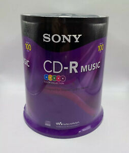 Sony 100 Pack Blank CD-R Color Collection  Music Audio Discs 80min New Sealed