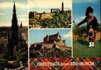 Multi-View Postcard Greeting from EDINBURGH Scottland Schottland Ansichtskarte