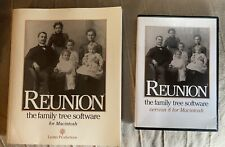 Reunion The Family Tree Software Version 8 Cd For Macintosh Cd Rom & User Guide
