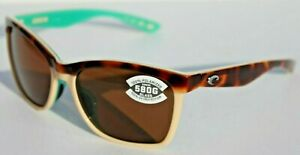 COSTA DEL MAR Anaa POLARIZED Sunglasses Tortoise/Cream Mint/Copper 580G NEW