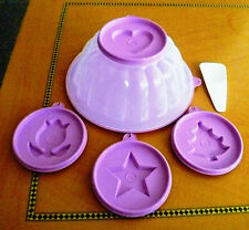 Tupperware Free Shipping New Cap: 5 cup Jello Flan Ice mold for punch bowl 6 pcs