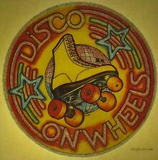 rollerskating vintage retro tshirt print, disco on wheels, rollerderby, NOS