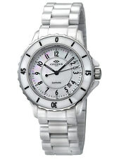 Oniss Paris Ceramica Fuerte Collection MOP Dial Ceramic Ladies Watch ON8043-L