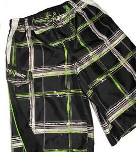 Zeroxposur Boys Cargo Style Swim Trunks Shorts L 14-16
