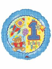 FIRST BIRTHDAY BOY PARTY FOIL BALLOON
