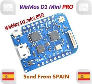 ESP8266 Wifi Board 16M Bytes External Antenna Connector For Wemos D1 Mini Pro