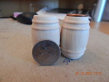 A SIX PAK of Barrels NATURAL Wood Whiskey Wine Rum Pickle Dollhouse Miniature