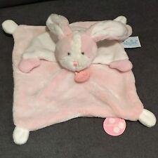 Babynat Les touptis lapin plat rose et blanc 26cms BN0204