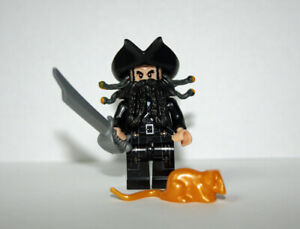 LEGO Black Beard with Rounded End Minifigure Accessory Loose