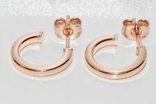 9ct Rose Gold on Silver Huggie / Cuff Stud Earrings - New - Men's or Ladies