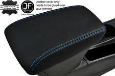 BLUE STITCHING LEATHER ARMREST SKIN COVER FITS VAUXHALL OPEL ASTRA K MK7 2016+