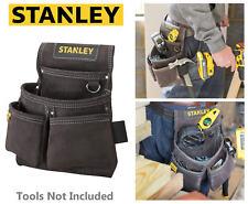 STANLEY Buffalo Dark Tan Pelle Chiodo, martello, Cintura Strumenti Marsupio doppio, STA180116