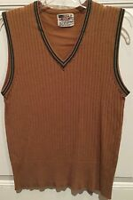 Vintage,70's, Grants Mens Wear Pop Top Men's Vest Size Medium Hipster Cool Retro