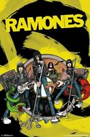 RAMONES - CARTOON BAND POSTER - 22x34 - MUSIC 17917