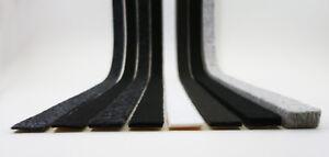 Filzstreifen selbstklebend 15mm, Filzband schwarz grau weiß braun, 2-10mm dick