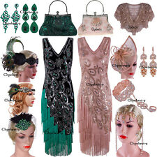 50's Style 1920s Flapper Dress Vintage Retro Party Evening Gowns Summer Dresses