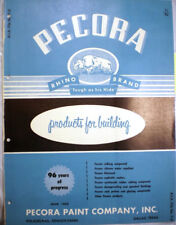 PECORA Paint Co Building Products Catalog ASBESTOS Barelastic Asphalt Mastic '58