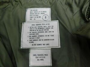 M51 M1951 Field Trousers Pants Liner Cold Weather Frieze Wool  Medium Long  B15