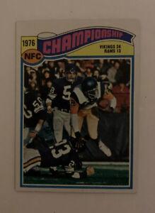 1977 1976 NFC Championship # 527 Minnesota Vikings Topps Football Card