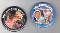 2 OBAMA pin INAUGURATION + Joe BIDEN 2009 pinback button + MICHELLE