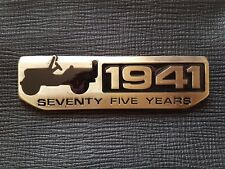 New Alloy 1941 Seventy Five Years Emblem Badge Decal Sticker For Jeep Wrangler