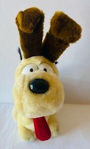 ODIE Garfield Dog Plush Soft Stuffed Toy Doll VINTAGE Fun Farm 1983 25cm