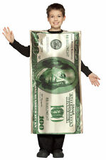 Brand New 101 Dollar Bill Money Funny Child Costume
