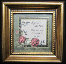"Special To Me You Are Such a Blessing Print in 4 1/4"" Gilded Wood Frame"
