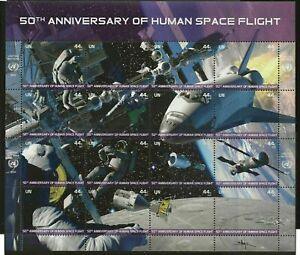 United Nations - New York #1024 MNH M/S CV$16.00 2011 Space Flight Shuttle