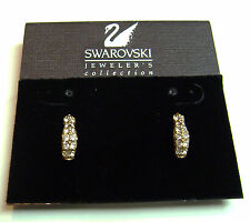 SWAROVSKI  EARRINGS GOLD TONE WITH CLEAR CRYSTALS -STAMPED WITH SWAN