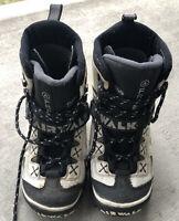 Airwalk Free Thinsulate White Black Snowboard Boots Mens Size 8