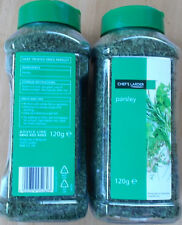 CHEFS LARDER 2 x  PARSLEY HERBS DRIED  HERBS 120g LARGE CATERING SIZE
