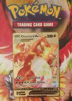 Pokemon Card - Charizard Vmax - 020/189 - Custom Gold Metal Card