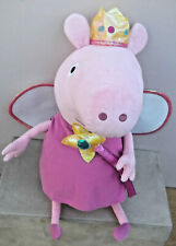 "TY Peppa Pig's 22"" PRINCESS PEPPA PIG Soft Plush Toy"