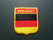 BACKPACKERS NATIONAL COUNTRY SHIELD FLAG SEW/IRON ON PATCH:- GERMANY