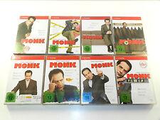 Monk Staffel 1+2+3+4+5+6+7+8 - Staffel/Season 1-8 DVD Neu