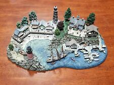 """The Danbury Mint """" Lighthouse Point """" 4 Pieces by Colin Gough"""