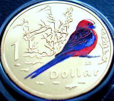 2011 AUSTRALIA 1 $DOLLARO medaglia WWF AIR SERIE CRIMSON Rosella UNC REGALO CONFEZIONE