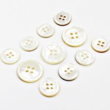 Mother of Pearl MOP Natural Button 11pcs 15/20mm Cream Genuine Suit Coat Jacket