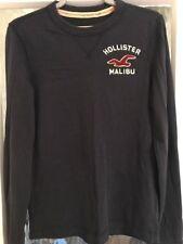 Hollister Long Sleeve T-Shirt Navy Men's Medium M