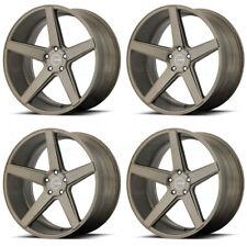 20x8.5 KMC KM685 District 5x114.3/5x4.5 35 Matte Bronze Wheels Rims Set(4)