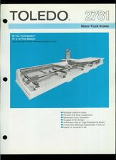 Super Rare Vintage Original Toledo Scale Brochure: 2781 Motor Truck Scales
